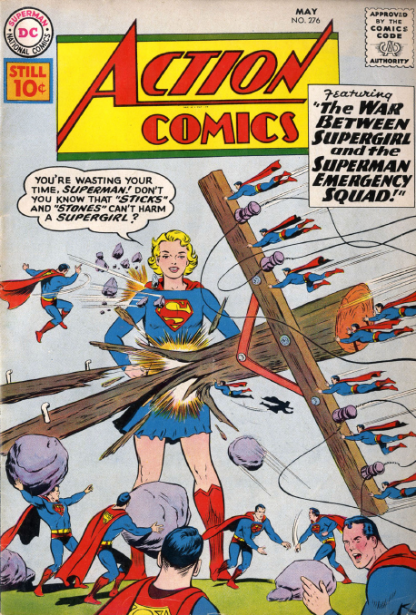 2 Comic Book Merged Humans - Supergirls vs the Superman Emergency Squad - Action 276