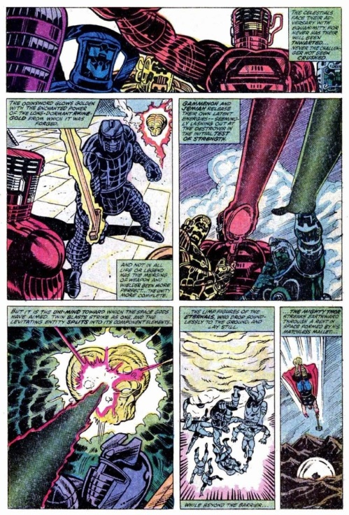 Comic Book Merged Humans - Uni-Mind vs Celestials - Thor #300 - Page 25