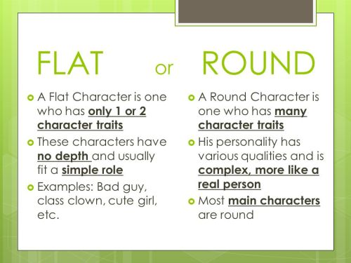 are-the-characters-flat-or-round