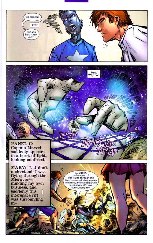 Marvel Abstract Entities-Expediency-Captain Marvel V4 #25 (2004) - Page 17