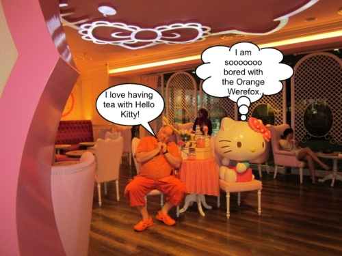 The Orange Werefox Meets Hello Kitty 1 Captioned