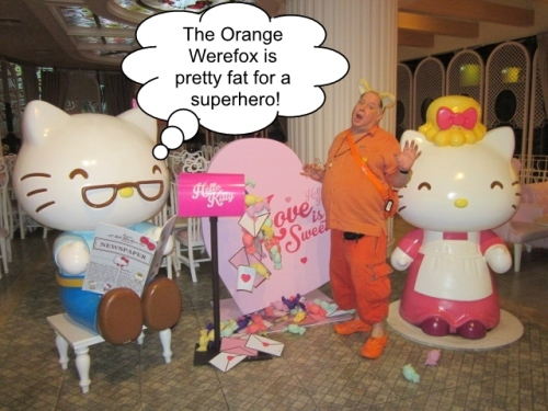 The Orange Werefox Meets Hello Kitty 2 Captioned