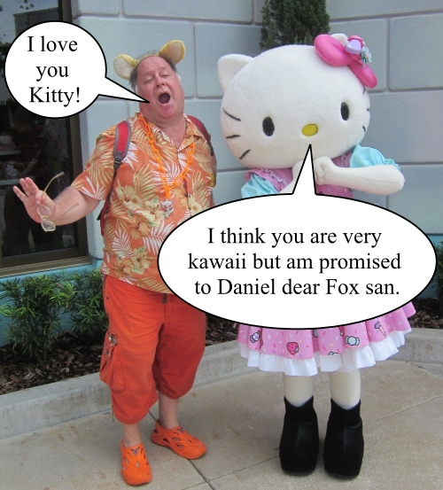 The Orange Werefox Meets Hello Kitty 3