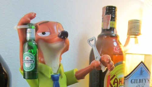 Nick Wilde of Zootopia has a Beer 4