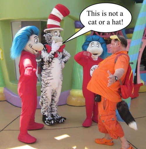 Orange Werefox Meets the Cat in the Hat 1