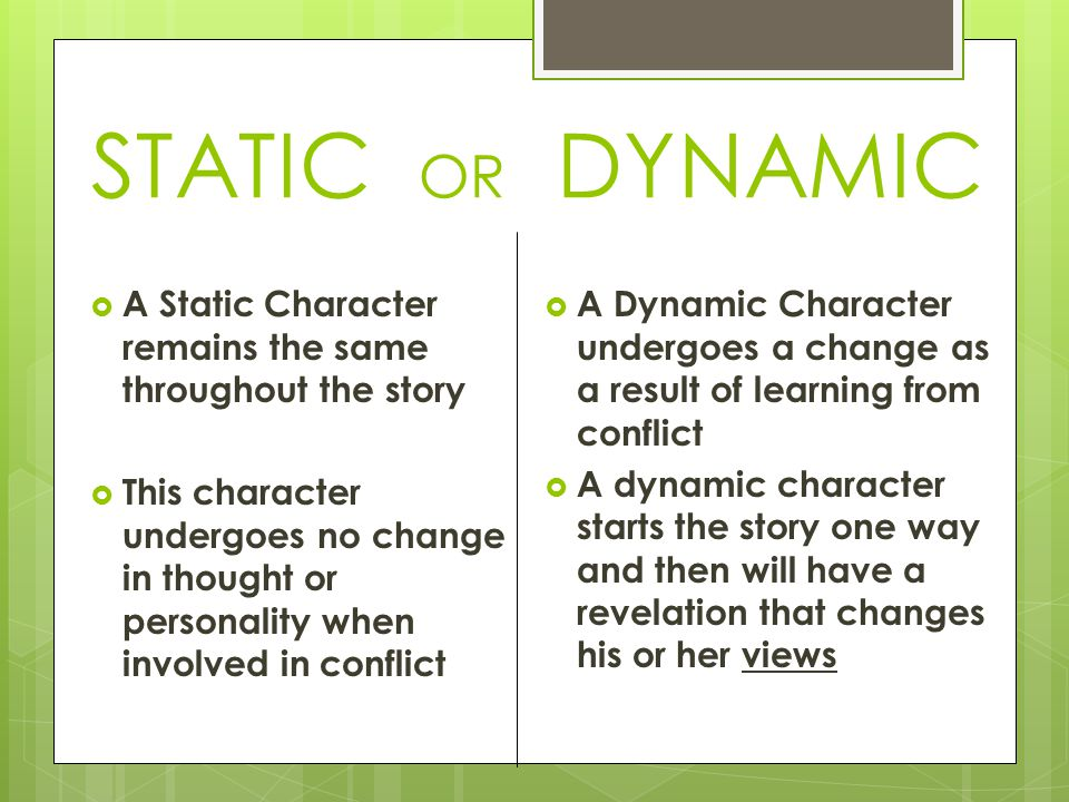 are-the-characters-dynamic-or-static | Hugh Fox III