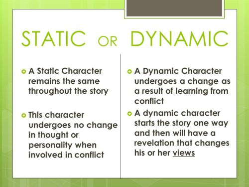 are-the-characters-dynamic-or-static